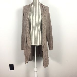 Torrid size 4x tan knitted open front cardigan